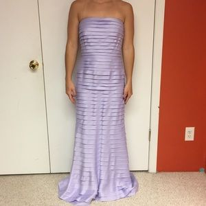 Totally Pleated Lavender Long Dress